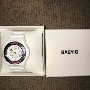 white baby-g watch